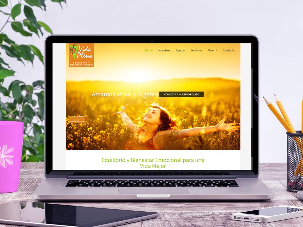 Diseño pagina web Vida Plena Bolivia Cochabamba