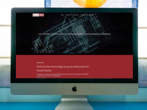 diseño sitio web Nexored
