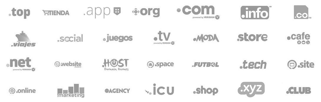 Registro de todos los dominios populares del mundo en HostDron Bolivia